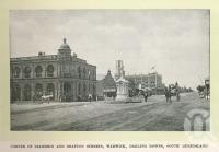 "<span class=""caption-caption"">Corner of Palmerin and Grafton Street, Warwick</span>. <br />From <span class=""caption-book"">Glimpses of Sunny Queensland (2nd edition)</span>, <span class=""caption-creator"">Queensland Government Intelligence and Tourist Bureau</span>, Brisbane, 1912, collection of <span class=""caption-contributor"">Centre for the Government of Queensland</span>."