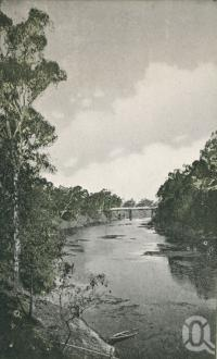 "<span class=""caption-caption"">McIntyre River at Goondiwindi</span>. <br />From <span class=""caption-book"">Glimpses of Sunny Queensland (2nd edition)</span>, <span class=""caption-creator"">Queensland Government Intelligence and Tourist Bureau</span>, Brisbane, 1912, collection of <span class=""caption-contributor"">Centre for the Government of Queensland</span>."