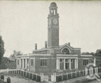 "<span class=""caption-caption"">Views of Gympie - Court House</span>. <br />From <span class=""caption-book"">Glimpses of Sunny Queensland (2nd edition)</span>, <span class=""caption-creator"">Queensland Government Intelligence and Tourist Bureau</span>, Brisbane, 1912, collection of <span class=""caption-contributor"">Centre for the Government of Queensland</span>."