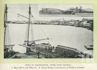 "<span class=""caption-caption"">Views of Maryborough, Mary River and wharves and bridge construction at Walkers Ltd</span>. <br />From <span class=""caption-book"">Glimpses of Sunny Queensland (2nd edition)</span>, <span class=""caption-creator"">Queensland Government Intelligence and Tourist Bureau</span>, Brisbane, 1912, collection of <span class=""caption-contributor"">Centre for the Government of Queensland</span>."