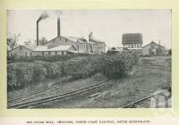 """<span class=""""caption-caption"""">Isis Sugar Mill, Childers</span>. <br />From <span class=""""caption-book"""">Glimpses of Sunny Queensland (2nd edition)</span>, <span class=""""caption-creator"""">Queensland Government Intelligence and Tourist Bureau</span>, Brisbane, 1912, collection of <span class=""""caption-contributor"""">Centre for the Government of Queensland</span>."""