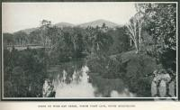 "<span class=""caption-caption"">Scene on Wide Bay Creek</span>. <br />From <span class=""caption-book"">Glimpses of Sunny Queensland (3rd edition)</span>, <span class=""caption-creator"">Queensland Government Intelligence and Tourist Bureau</span>, Brisbane, 1914, collection of <span class=""caption-contributor"">Centre for the Government of Queensland</span>."