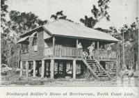 "<span class=""caption-caption"">Discharged soldier's home at Beerburrum</span>. <br />From <span class=""caption-book"">The Pocket Queensland</span>, <span class=""caption-creator"">Queensland Government Intelligence and Tourist Bureau</span>, Brisbane, 1921, collection of <span class=""caption-contributor"">Centre for the Government of Queensland</span>."