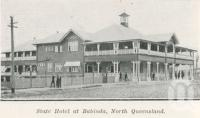 "<span class=""caption-caption"">State Hotel at Babinda</span>. <br />From <span class=""caption-book"">The Pocket Queensland</span>, <span class=""caption-creator"">Queensland Government Intelligence and Tourist Bureau</span>, Brisbane, 1921, collection of <span class=""caption-contributor"">Centre for the Government of Queensland</span>."