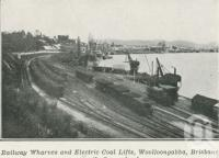 "<span class=""caption-caption"">Railway wharves and electric coal lifts, Woolloongabba</span>. <br />From <span class=""caption-book"">The Pocket Queensland</span>, <span class=""caption-creator"">Queensland Government Intelligence and Tourist Bureau</span>, Brisbane, 1921, collection of <span class=""caption-contributor"">Centre for the Government of Queensland</span>."