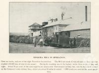 """<span class=""""caption-caption"""">Bingera Mill in operation</span>. <br />From <span class=""""caption-book"""">The Burnett and Isis Pictorial</span>, <span class=""""caption-creator"""">Richards & Kingdon</span>, Bundaberg, 1927, collection of <span class=""""caption-contributor"""">Centre for the Government of Queensland</span>."""