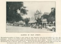 """<span class=""""caption-caption"""">Glimpse of main street, Childers</span>. <br />From <span class=""""caption-book"""">The Burnett and Isis Pictorial</span>, <span class=""""caption-creator"""">Richards & Kingdon</span>, Bundaberg, 1927, collection of <span class=""""caption-contributor"""">Centre for the Government of Queensland</span>."""