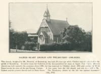 """<span class=""""caption-caption"""">Sacred Heart Church and Presbytery, Childers</span>. <br />From <span class=""""caption-book"""">The Burnett and Isis Pictorial</span>, <span class=""""caption-creator"""">Richards & Kingdon</span>, Bundaberg, 1927, collection of <span class=""""caption-contributor"""">Centre for the Government of Queensland</span>."""