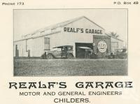 """<span class=""""caption-caption"""">Realf's Garage, Childers</span>. <br />From <span class=""""caption-book"""">The Burnett and Isis Pictorial</span>, <span class=""""caption-creator"""">Richards & Kingdon</span>, Bundaberg, 1927, collection of <span class=""""caption-contributor"""">Centre for the Government of Queensland</span>."""