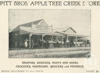 """<span class=""""caption-caption"""">Pitt Bros Apple Tree Creek Store</span>. <br />From <span class=""""caption-book"""">The Burnett and Isis Pictorial</span>, <span class=""""caption-creator"""">Richards & Kingdon</span>, Bundaberg, 1927, collection of <span class=""""caption-contributor"""">Centre for the Government of Queensland</span>."""