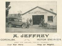 "<span class=""caption-caption"">A. Jeffrey, Motor Garage, Cordalba</span>. <br />From <span class=""caption-book"">The Burnett and Isis Pictorial</span>, <span class=""caption-creator"">Richards & Kingdon</span>, Bundaberg, 1927, collection of <span class=""caption-contributor"">Centre for the Government of Queensland</span>."