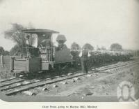 """<span class=""""caption-caption"""">Cane train going to Marian Mill, Mackay</span>. <br />From <span class=""""caption-book"""">Australia Unlimited</span>, <span class=""""caption-creator"""">Edwin J Brady</span>, <span class=""""caption-publisher"""">George Robertson & Co</span>, Melbourne, 1918, collection of <span class=""""caption-contributor"""">Centre for the Government of Queensland</span>."""