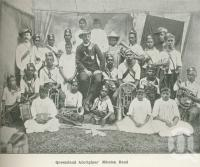 "<span class=""caption-caption"">Queensland Aborigines' Mission Band</span>. <br />From <span class=""caption-book"">Australia Unlimited</span>, <span class=""caption-creator"">Edwin J Brady</span>, <span class=""caption-publisher"">George Robertson & Co</span>, Melbourne, 1918, collection of <span class=""caption-contributor"">Centre for the Government of Queensland</span>."