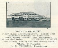 "<span class=""caption-caption"">Royal Mail Hotel, Tewantin</span>. <br />From <span class=""caption-book"">Queensland Journey</span>, <span class=""caption-creator"">C.B. Christensen</span>, <span class=""caption-publisher"">Queensland Government Tourist Bureau</span>, Brisbane, 1938, collection of <span class=""caption-contributor"">Centre for the Government of Queensland</span>."