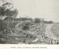 "<span class=""caption-caption"">Jetty at Bribie Island</span>. <br />From <span class=""caption-book"">The Pocket Brisbane</span>, <span class=""caption-creator"">Queensland Government Intelligence and Tourist Bureau</span>, Brisbane, 1913, collection of <span class=""caption-contributor"">Centre for the Government of Queensland</span>."
