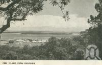 "<span class=""caption-caption"">Peel Island from Dunwich</span>. <br />From <span class=""caption-book"">Scenic island cruises in Moreton Bay</span>, c1950, collection of <span class=""caption-contributor"">Centre for the Government of Queensland</span>."