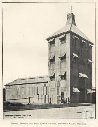 "<span class=""caption-caption"">Messrs Kitchen and Sons' Cotton Ginnery, Fortitude Valley</span>. <br />From <span class=""caption-book"">Queensland Agricultural Journal</span>, 1907, collection of <span class=""caption-contributor"">Fryer Library, UQ</span>."