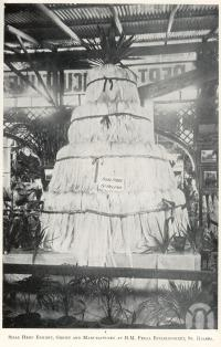 "<span class=""caption-caption"">Sisal hemp exhibit at Bowen Park from HM Penal Establishment at St Helena</span>. <br />From <span class=""caption-book"">Queensland Agricultural Journal</span>, 1908, collection of <span class=""caption-contributor"">Fryer Library, UQ</span>."