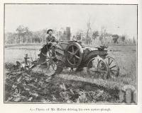 "<span class=""caption-caption"">Mr Hellen driving his own motor-plough, Boyne Valley</span>. <br />From <span class=""caption-book"">Queensland Agricultural Journal</span>, 1918, collection of <span class=""caption-contributor"">Fryer Library, UQ</span>."
