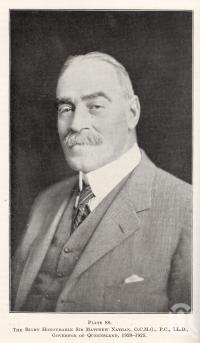 """<span class=""""caption-caption"""">The Right Honourable Sir Matthew Nathan, Governor of Queensland, 1920-25</span>. <br />From <span class=""""caption-book"""">Queensland Agricultural Journal</span>, 1925, collection of <span class=""""caption-contributor"""">Fryer Library, UQ</span>."""