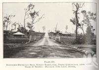 "<span class=""caption-caption"">Ravenshoe-Mourilyan road, Evelyn Tablelands</span>. <br />From <span class=""caption-book"">Queensland Agricultural Journal</span>, 1927, collection of <span class=""caption-contributor"">Fryer Library, UQ</span>."