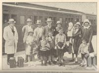"<span class=""caption-caption"">Arrival of new settlers at Beerburrum</span>. <br />From <span class=""caption-book"">Queensland Agricultural Journal</span>, 1932, collection of <span class=""caption-contributor"">Fryer Library, UQ</span>."