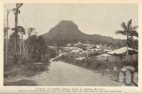 "<span class=""caption-caption"">Picturesque Pomona, shaded by Cooroora Mountain</span>. <br />From <span class=""caption-book"">Queensland Agricultural Journal</span>, 1935, collection of <span class=""caption-contributor"">Fryer Library, UQ</span>."