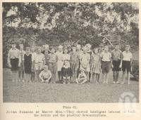 "<span class=""caption-caption"">Junior farmers of Mount Mee</span>. <br />From <span class=""caption-book"">Queensland Agricultural Journal</span>, 1947, collection of <span class=""caption-contributor"">Fryer Library, UQ</span>."