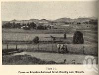 "<span class=""caption-caption"">Farms on Brigalow-Softwood scrub country near Boonah</span>. <br />From <span class=""caption-book"">Queensland Agricultural Journal</span>, 1950, collection of <span class=""caption-contributor"">Fryer Library, UQ</span>."