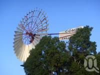 "<span class=""caption-caption"">Comet windmill, Barcaldine, 27 feet across</span>, 2009. <br />Digital image, collection of <span class=""caption-contributor"">Centre for the Government of Queensland MS</span>."