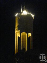 "<span class=""caption-caption"">Longreach water tower lit at night</span>, 2009. <br />Digital image, collection of <span class=""caption-contributor"">Centre for the Government of Queensland MS</span>."