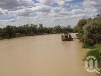 "<span class=""caption-caption"">Paddlesteamer on Thomson River, Longreach</span>, 2009. <br />Digital image, collection of <span class=""caption-contributor"">Centre for the Government of Queensland MS</span>."