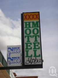 "<span class=""caption-caption"">Alpha Hotel Motel sign</span>, 2009. <br />Digital image, collection of <span class=""caption-contributor"">Centre for the Government of Queensland MS</span>."