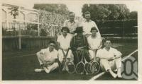 "<span class=""caption-caption"">Backyard tennis, the Ridley's place, Clayfield</span>, c1930. <br />Digital image, collection of <span class=""caption-contributor"">Megan Young</span>."