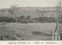 "<span class=""caption-caption"">Looking towards No 1 bore, Tobermorey Station, Urandangie</span>, 1939. <br />Newspaper, collection of <span class=""caption-contributor"">John Young</span>."