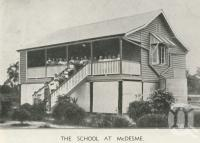 "<span class=""caption-caption"">The school at McDesme</span>, 1939. <br />Newspaper, collection of <span class=""caption-contributor"">John Young</span>."