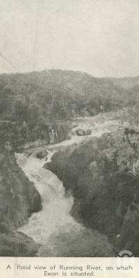 "<span class=""caption-caption"">A flood view of Running River on which Ewan is situated</span>, 1940. <br />Newspaper, collection of <span class=""caption-contributor"">John Young</span>."