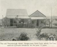 "<span class=""caption-caption"">The old Thornbrough Hotel, Hodgkinson Gold Field</span>, 1940. <br />Newspaper, collection of <span class=""caption-contributor"">John Young</span>."