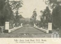 """<span class=""""caption-caption"""">Tully - Jarra Creek Road</span>, 1940. <br />Newspaper, collection of <span class=""""caption-contributor"""">John Young</span>."""