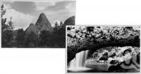 "<span class=""caption-caption"">Egg Rock on Yauns Property and Natural Bridge, Numinbah Valley</span>, c1930s-c1940s. <br />Photographic collection, <span class=""caption-contributor"">Queensland State Archives</span>."