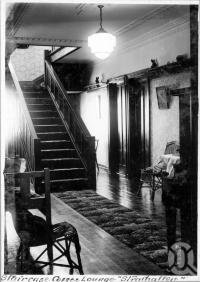 "<span class=""caption-caption"">Staircase Coffee Lounge Strathallen Guest House, Caloundra</span>, c1930s-c1940s. <br />Photographic collection, <span class=""caption-contributor"">Queensland State Archives</span>."