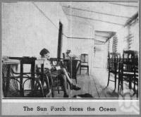 "<span class=""caption-caption"">Hotel Francis Sun Porch Caloundra</span>, c1930s-c1940s. <br />Photographic collection, <span class=""caption-contributor"">Queensland State Archives</span>."