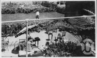 """<span class=""""caption-caption"""">Lake Eacham Hotel, Grounds, Yungaburra</span>, c1930s-c1940s. <br />Photographic collection, <span class=""""caption-contributor"""">Queensland State Archives</span>."""