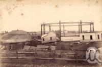 "<span class=""caption-caption"">West End Gasworks after flood</span>, 1893. <br />Photograph, collection of <span class=""caption-contributor"">Fryer Library, UQ</span>."