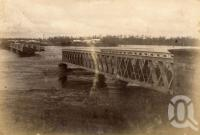 "<span class=""caption-caption"">Indooroopilly Bridge broken by floodwater</span>, 1893. <br />Photograph, collection of <span class=""caption-contributor"">Fryer Library, UQ</span>."