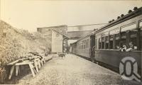 """<span class=""""caption-caption"""">Harlaxton railway station, on the Downs</span>, 1900-1915. <br />Photograph, collection of <span class=""""caption-contributor"""">JC Smith Collection, Fryer Library, UQ</span>."""