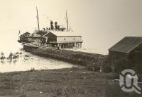 "<span class=""caption-caption"">S.S.Mourilyan  at the jetty, Port Douglas</span>, 1900-1915. <br />Photograph, collection of <span class=""caption-contributor"">JC Smith Collection, Fryer Library, UQ</span>."