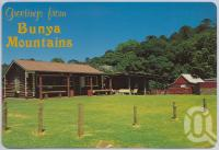 "<span class=""caption-caption"">Log Cabin, Bunya Mountains</span>, c1970-2000. <br />Postcard, collection of <span class=""caption-contributor"">Murray Views Collection</span>."