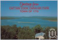 "<span class=""caption-caption"">Captain Cook Caravan Park, Town of 1770</span>, c1970-2000. <br />Postcard, collection of <span class=""caption-contributor"">Murray Views Collection</span>."