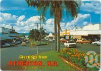 "<span class=""caption-caption"">Main street, Atherton</span>, c1970-2000. <br />Postcard, collection of <span class=""caption-contributor"">Murray Views Collection</span>."
